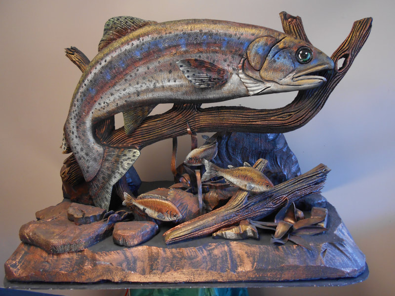 Dan Cagle Trout Underwater Foam Hand Carving