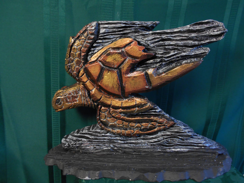 Dan Cagle Turtle Foam Hand Carving